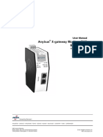 User Manual anybus x gateway