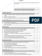 Cv Checklist