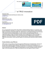 _ 5W's and an H _ of TRIZ Innovation