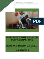 Programa Anual de Salud Ocupacional - La Estrella 2018 REVISADO