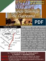 SEGUNDO DOMINGO DE CURESMA 2018