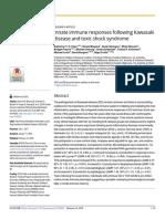 Innate Immune Responses Following Kawasaki Disease and Toxic Shock Syndrome