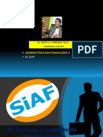 EL SIAF - DR. FREDY CARRANZA VILLA - ECONOMISTA