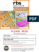 Verb Tense Center Activities Past Present Future