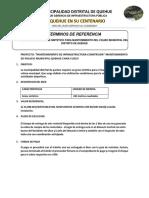 Especificacion Tecnica de Grass Sintetico