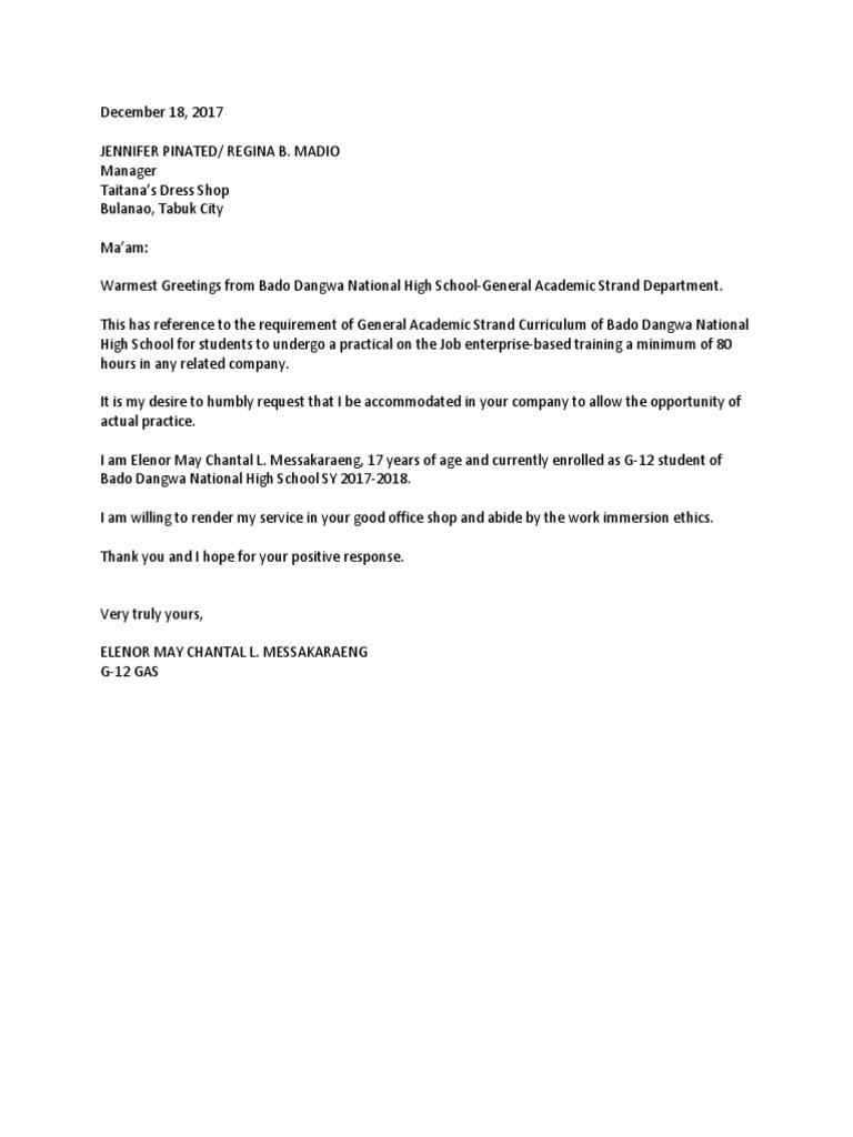 10+ Job Application Letter for Students – PDF, DOC