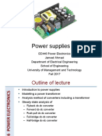 3 DC-DC Converters -Isolated ---DC Power Supplies