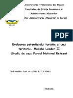 205082264 Evaluarea Potentialului Turistic Al UUnui Teritoriu Modelul Leader II Parcul National Retezat