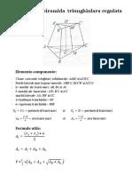 Trunchiul de Piramida Triunghiulara Regulata