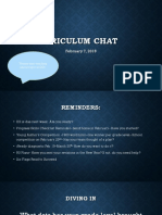 feb 7 curriculum chat