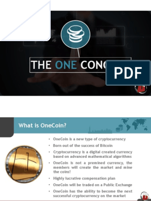 OneCoin english 3 pdf | Cryptocurrency | Bitcoin