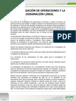 Lectura 1. Investigación de Operaciones y La Programación Lineal