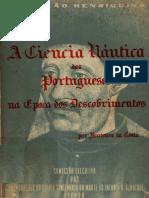 A. Fontoura Da Costa - A Ciência Náutica Dos Portugueses Na Época Dos Descobrimentos