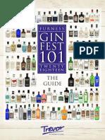 Gin Fest 101 Gin Guide 2018