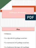 Exposé-La Politique Monétaire(1)