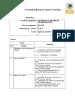 Temario y Biblio Gestión de Los Sistemas de Calidad Aplicados