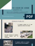 Decreto 1504 de 1998