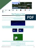 Physics-Golf Ball Flight