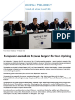 """Uprising in Iran"" European Parliament Friends of a Free Iran (FoFI) - Strasbourg - 7 February 2018"