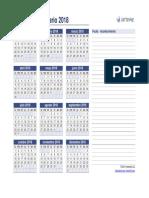 Calendario Anual 2018