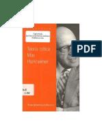 Horkheimer - Teoría crítica