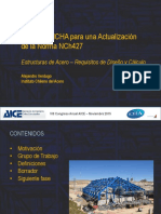 """5.Alejandro Verdugo Propuesta ICHA Actualizacion NCh427 """"Especificaciones Para El Calculo Fabricacion y Construccion de Estructuras de Acero"""""""