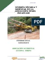 Informe Geologico Tunel INCAHUASI