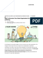 How to Structure Your Sales Organization for Maximum Efficiency