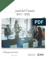 Manual Del Usuario Fiduprevisora 2017-2021