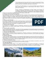 10 Sierras o Cadenas Montañosas de Guatemala y Regiones Hidrograficas de Guatemala