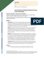 Prevalence of Physical Activity Dan Sedentary Behavior Pada Survivor Stroke