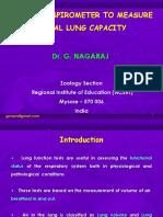 Simple Spirometer