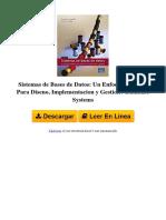 UL0G Sistemas de Bases de Datos Un Enfoque Practico Para Diseno Implementacion y Gestion Database Systems by Thomas m Connolly Carolyn e Begg 8478290753