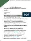 Bonus Casa 2018 Ecobonus Ristrutturazioni Sismabonus e Bonus Verde