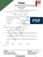 4. Quantum Mechanics JEST 2012-2016
