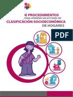Manual de Procedimientos Para Atender Solicitudes de CSE de Hogares - MIDIS 2016