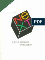 NeXT 0.9-1.0 Release Description