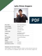 Biography Dimas Anggara