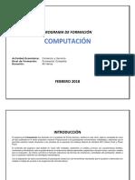 Programa Curso Computacion