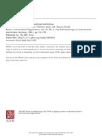 4. Rational Design of International Institutions