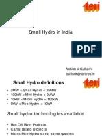 13Small Hydro in India