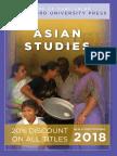Asian Studies 2018 Catalog