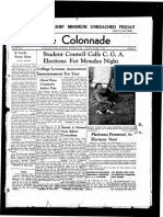 The Colonnade, October 1, 1938