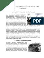 Análisis Del Impacto en La Sociedad Guatemalteca en Los 36 Años de Conflicto Armado Interno
