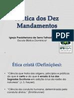 EBD - A Ética Dos Dez Mandamentos