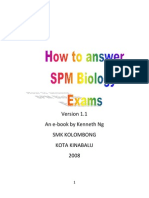 How to Answer SPM Biology Paper 1 2 3 by Kenneth Ng Edited May 2009