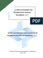 ANEXO 3 - Diretrizes Para Elaboração de Orçamentos de Linhas de Transmissão