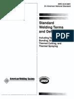AWSA3.0-2001 Welding Terms