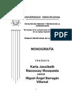 Monografía Karla Macossay