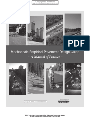 336787252 Aashto Mechanistic Empirical Pavement Design Guide A Manual Of Practice 2nd Ed 2015 Pdf Road Surface Young S Modulus